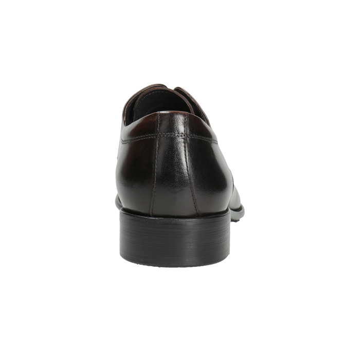 Tmavé hnedé kožené poltopánky bata, hnedá, 824-4983 - 16