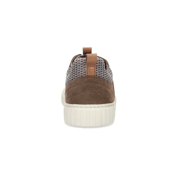Ležérne tenisky z brúsenej kože bata, hnedá, 843-4637 - 15