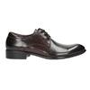 Tmavé hnedé kožené poltopánky bata, hnedá, 824-4983 - 26