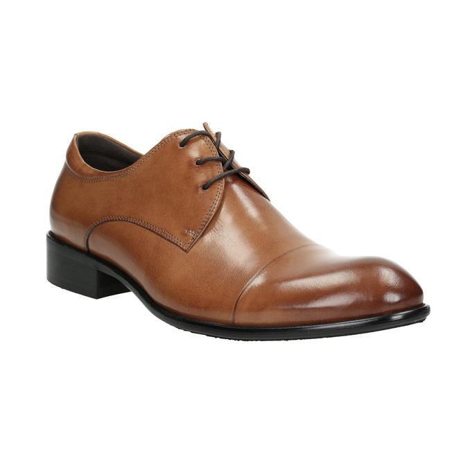 Pánske hnedé kožené Derby poltopánky bata, hnedá, 826-3983 - 13