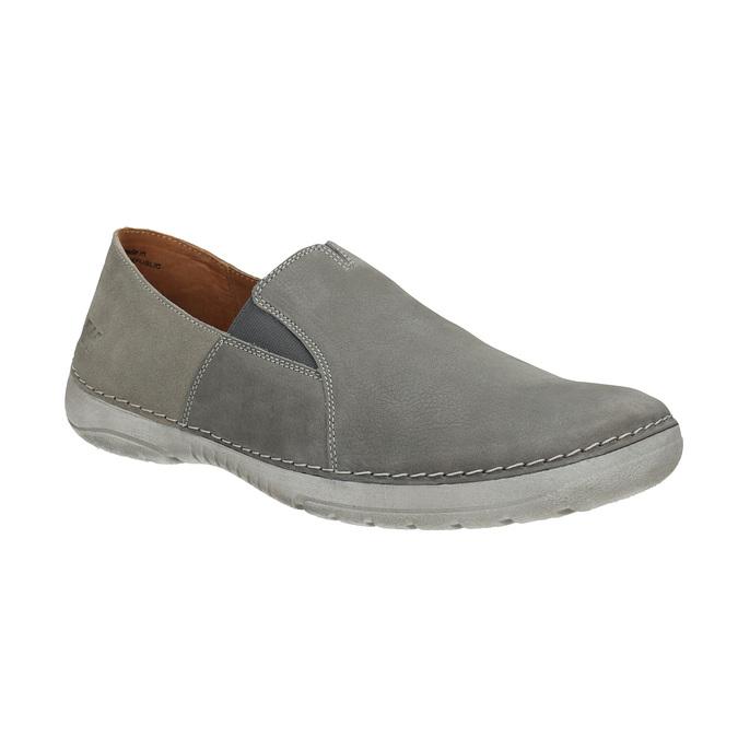 Pánske kožené Slip-on topánky weinbrenner, šedá, 836-2602 - 13