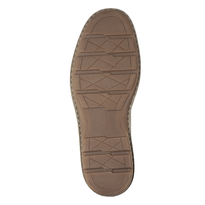 Hnedé kožené pánske poltopánky bata, hnedá, 826-4654 - 19