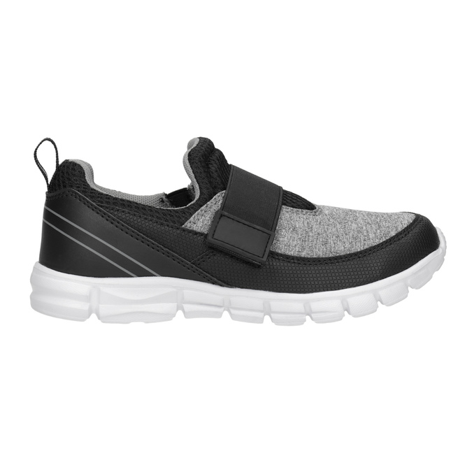 Detské tenisky s elastickým remienkom mini-b, čierna, 319-6152 - 26