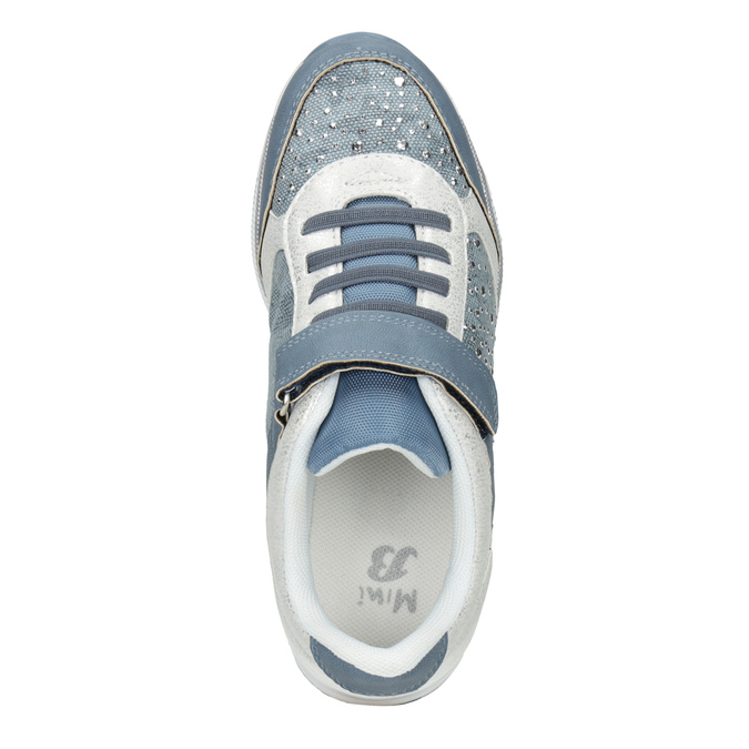 Detské tenisky s kamienkami mini-b, modrá, 329-9348 - 15