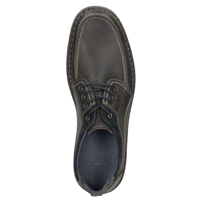 Kožené pánske ležérne poltopánky bata, 826-2654 - 17
