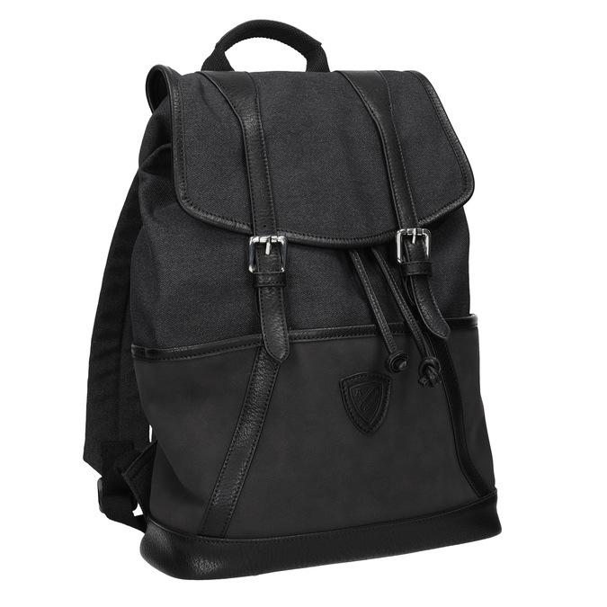 Unisex batoh s prackami atletico, čierna, 969-6678 - 13