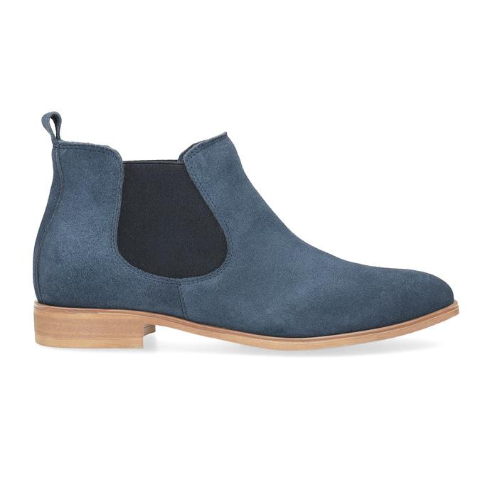 Modré kožené Chelsea čižmy bata, modrá, 593-9614 - 19