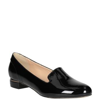 Dámske Loafers na nízkom podpätku bata, čierna, 511-6608 - 13