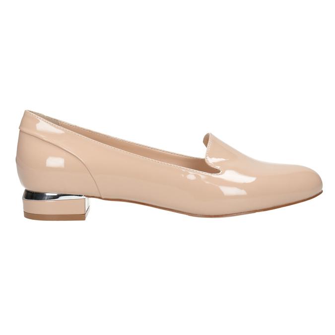 Béžové Loafers na nízkom podpätku bata, béžová, 511-8608 - 26