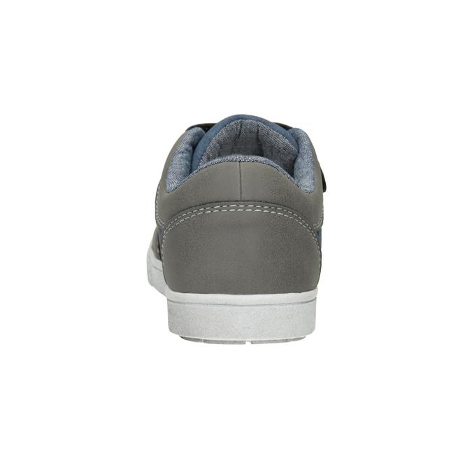 Detské tenisky na suchý zips mini-b, šedá, 411-2101 - 16