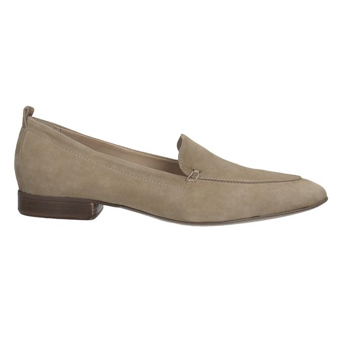 Ležérne mokasíny z brúsenej kože bata, hnedá, 516-4618 - 16
