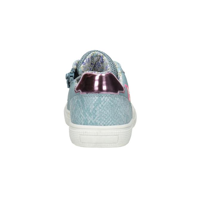 Modré dievčenské tenisky s výšivkou mini-b, 321-9381 - 16