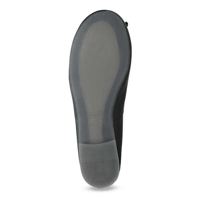 Kožené čierne baleríny s mašličkou bata, čierna, 524-6144 - 18