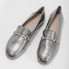 Strieborné mokasíny s prackou bata, strieborná, 511-1609 - 16