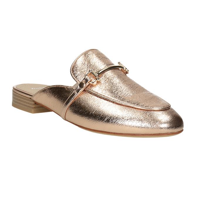 Dámske nazouváky s prackou bata, zlatá, 511-8609 - 13