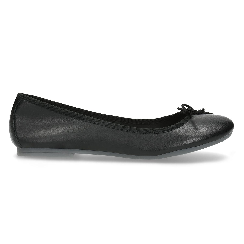 96adb4f617c9 Bata Kožené čierne baleríny s mašličkou - Všetky topánky