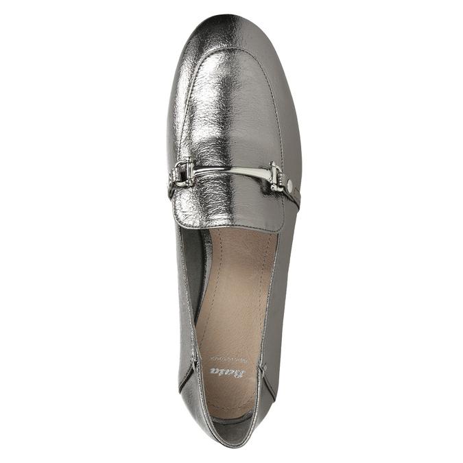 Strieborné mokasíny s prackou bata, strieborná, 511-1609 - 15
