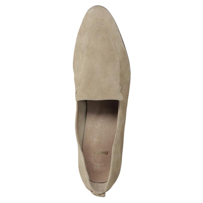 Ležérne mokasíny z brúsenej kože bata, hnedá, 516-4618 - 17