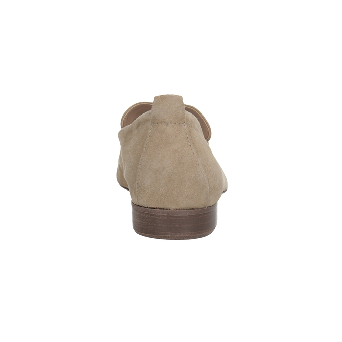 Ležérne mokasíny z brúsenej kože bata, hnedá, 516-4618 - 15