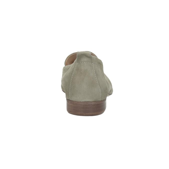 Dámske mokasíny z brúsenej kože bata, béžová, 516-8618 - 15