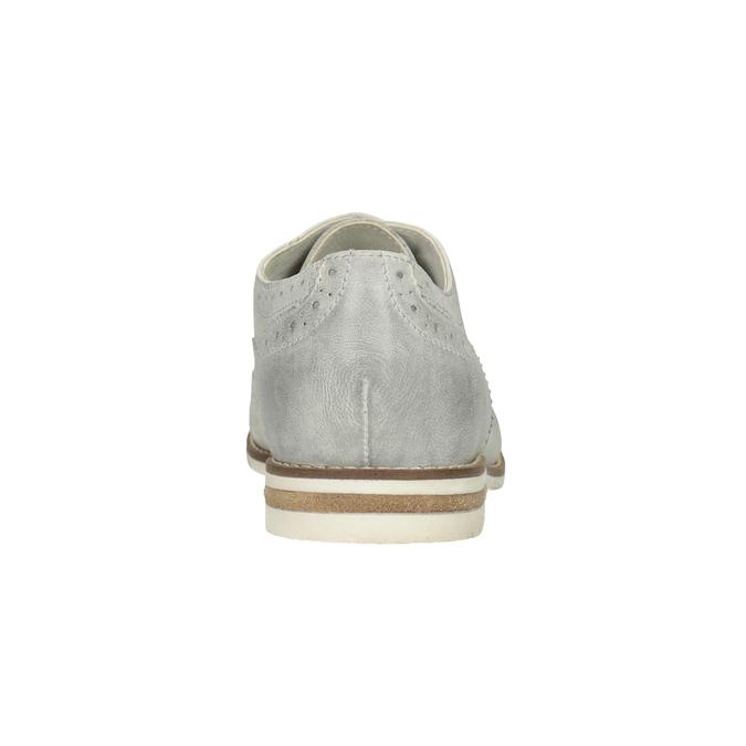 Dámske kožené Brogue poltopánky bata, šedá, 526-1649 - 16