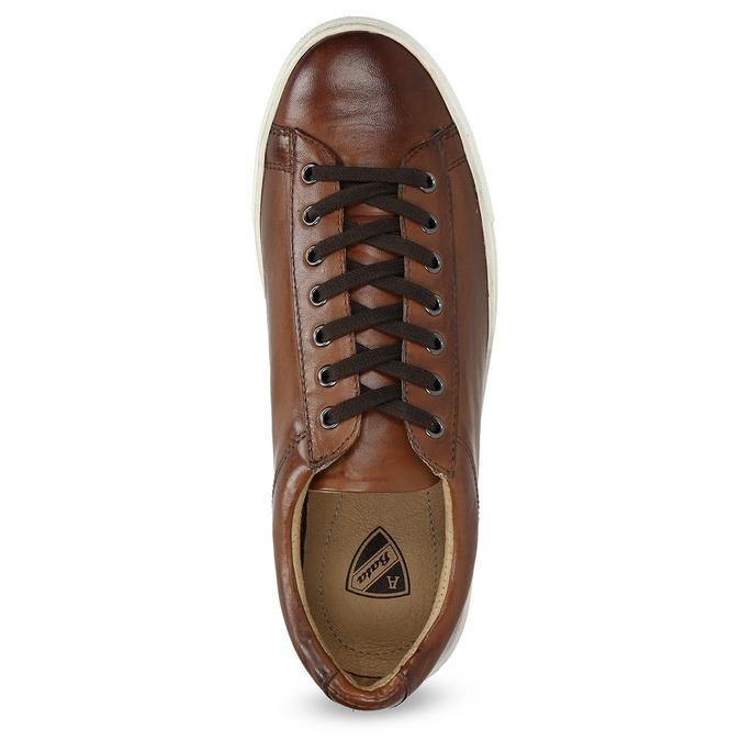 Kožené pánske tenisky bata, hnedá, 846-4648 - 17