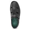 Pánske sandále z kože pinosos, čierna, 864-6626 - 17