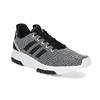 Čierno-biele tenisky s tkaným vzorom adidas, biela, 809-1101 - 13
