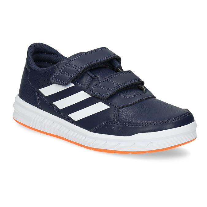 Modré detské tenisky na suchý zips adidas, modrá, 301-9151 - 13