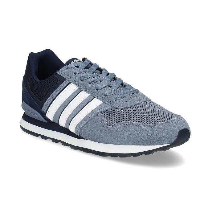 Pánske tenisky z brúsenej kože adidas, modrá, 803-2293 - 13
