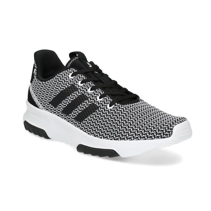 Čierno-biele tenisky s tkaným vzorom adidas, čierna, 809-1101 - 13