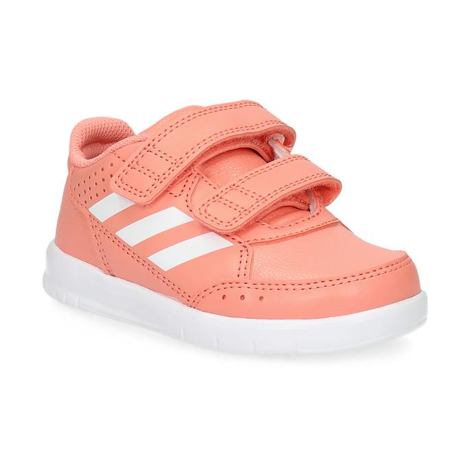 Dievčenské ružové tenisky na suchý zips adidas, ružová, 101-5151 - 13