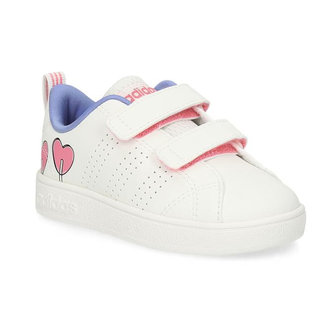 Detské biele tenisky so srdiečkami adidas, biela, 101-1129 - 13