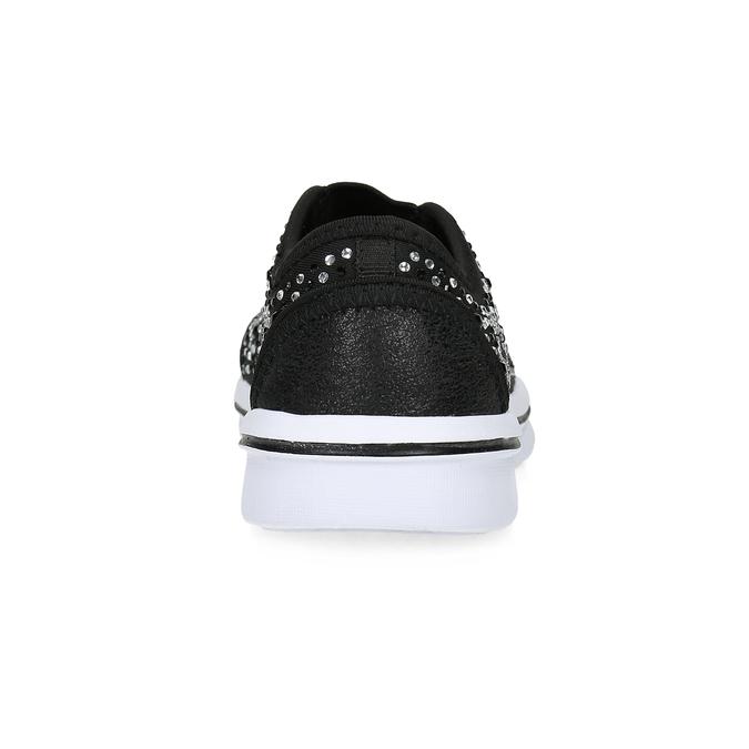 Slip-on tenisky s kamienkami mini-b, čierna, 329-6343 - 15