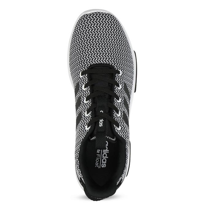 Čierno-biele tenisky s tkaným vzorom adidas, biela, 809-1101 - 17
