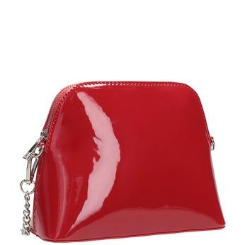Červená lakovaná kabelka bata, červená, 961-5850 - 13
