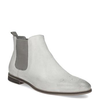 Kožená dámska Chelsea obuv bata, šedá, 596-1684 - 13