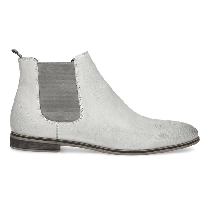 Kožená dámska Chelsea obuv bata, šedá, 596-1684 - 19