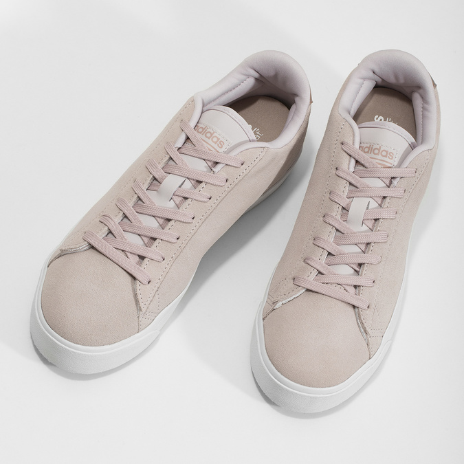 Ružové tenisky z brúsenej kože adidas, ružová, 503-2554 - 16
