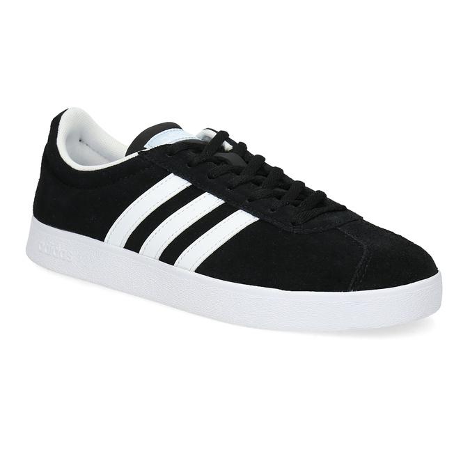 Čierne dámske tenisky z brúsenej kože adidas, čierna, 503-6379 - 13