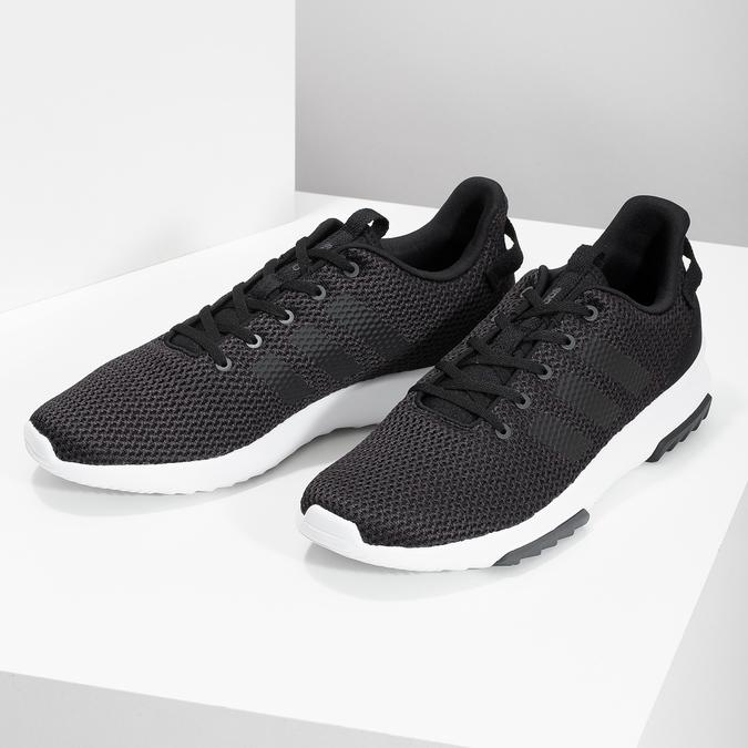 Čierne pánske tenisky v športovom dizajne adidas, čierna, 809-6101 - 16