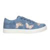 Modré dievčenské tenisky s motýlikmi mini-b, modrá, 321-9618 - 26