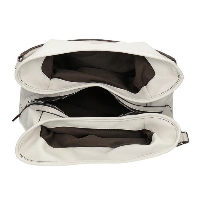 Biela kabelka s prackou bata, biela, 961-1681 - 15