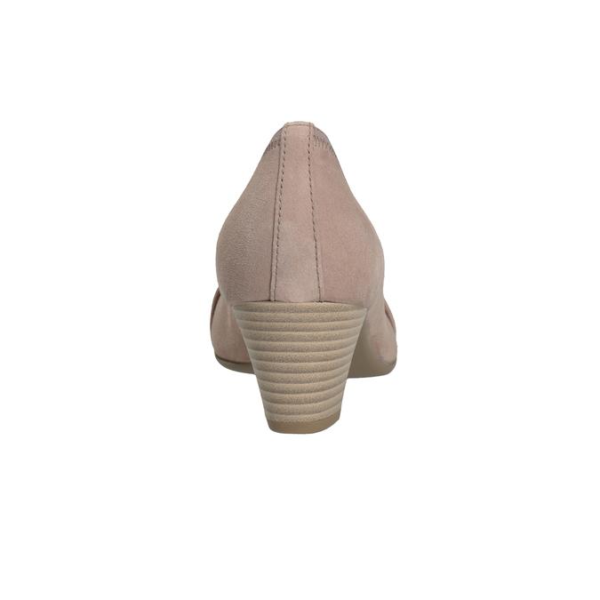 Kožené lodičky s kamienkami gabor, ružová, 723-5066 - 16