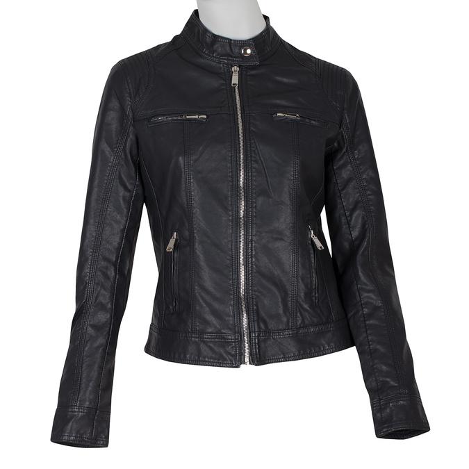 Čierna dámska koženková bunda bata, čierna, 971-6206 - 13