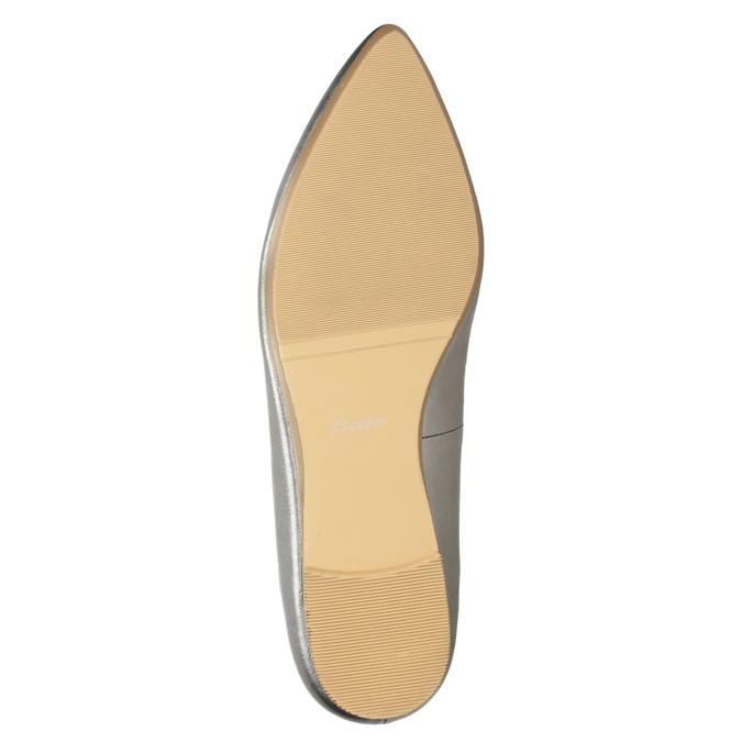 Dámska kožená obuv s perforáciou bata, 526-1659 - 19