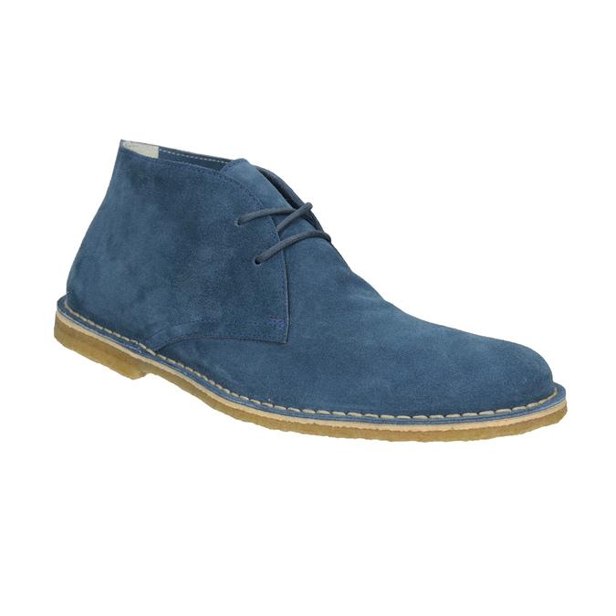 Modré kožené Desert Boots bata, 823-9622 - 13