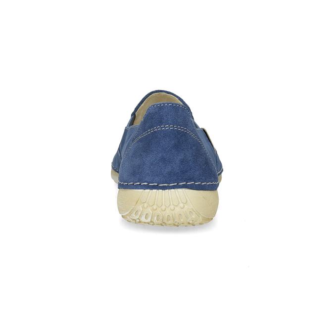 Dámske modré kožené Slip-on weinbrenner, modrá, 536-9606 - 15