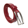 Červený dámsky opasok z kože bata, červená, 954-5204 - 13