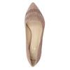 Kožené dámske lodičky s perforáciou insolia, 723-5660 - 17